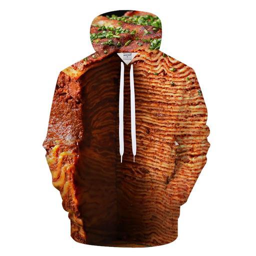 100 Layers Of Lasagna 3d - Sweatshirt- Hoodie- Pullover