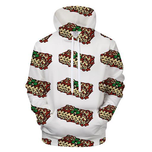 3 Layer Lasagna 3d - Sweatshirt- Hoodie- Pullover