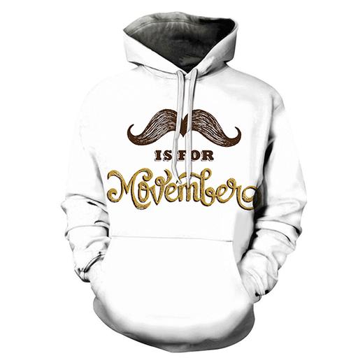 3d Mustache Is For Hoodie - Sweatshirt- Hoodie- Pullover