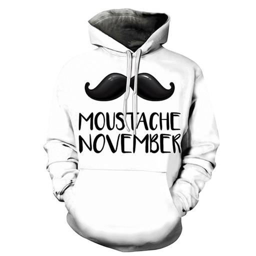 3d November And Movember - Sweatshirt- Hoodie- Pullover