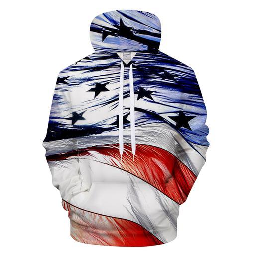 4th Of July 3d - Sweatshirt- Hoodie- Pullover