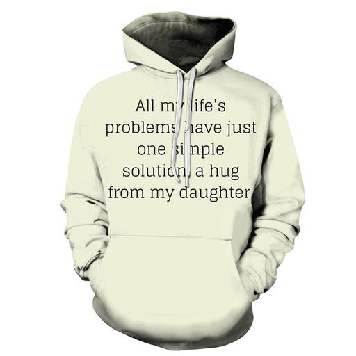 A Hug From My Daughter Mother Love 3d - Sweatshirt- Hoodie- Pullover