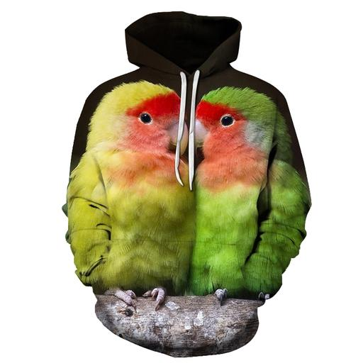 Adorable Chickens Bird Face 3d - Sweatshirt- Hoodie- Pullover