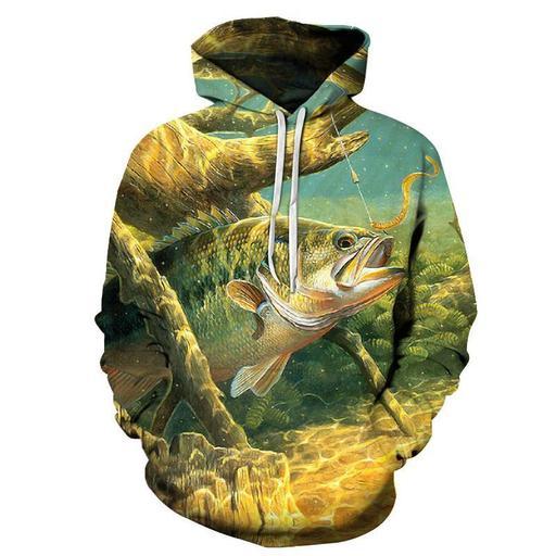 Big Fish 3d Sweatshirt- Hoodie- Pullover
