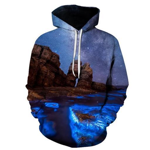 Landscape 3d Sweatshirt Hoodie Pullover