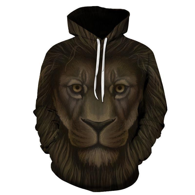 Lion 3d Sweatshirt- Hoodie- Pullover