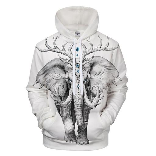 Majestic Elephant 3d Sweatshirt- Hoodie- Pullover