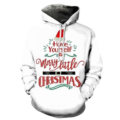 Merry Little Christmas Hoodie - Sweatshirt- Hoodie- Pullover