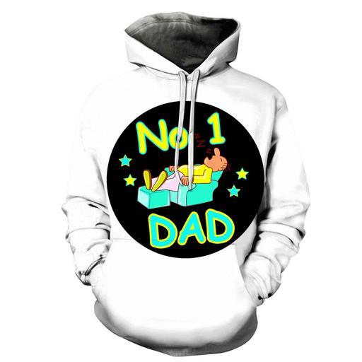 Sleepy Dad 3d - Sweatshirt- Hoodie- Pullover