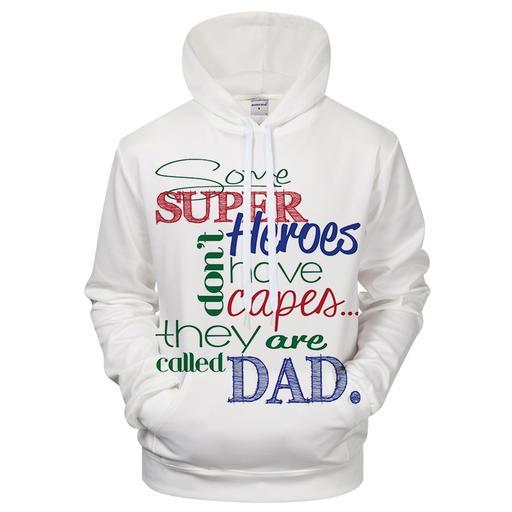 Super Dad 3d Sweatshirt Hoodie Pullover