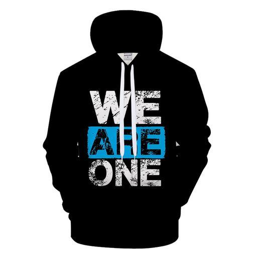 We Are One 3d - Sweatshirt- Hoodie- Pullover