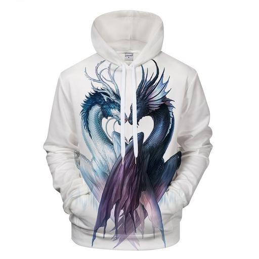 Ying Yang Dragon 3d Sweatshirt Hoodie Pullover