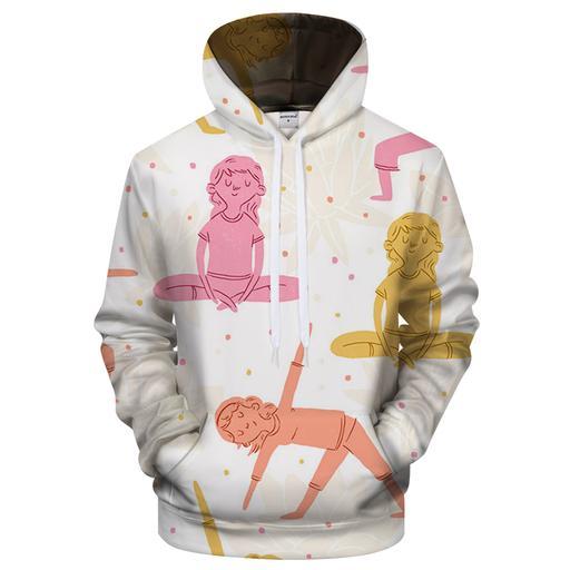 Yoga Fun 3d Sweatshirt Hoodie Pullover