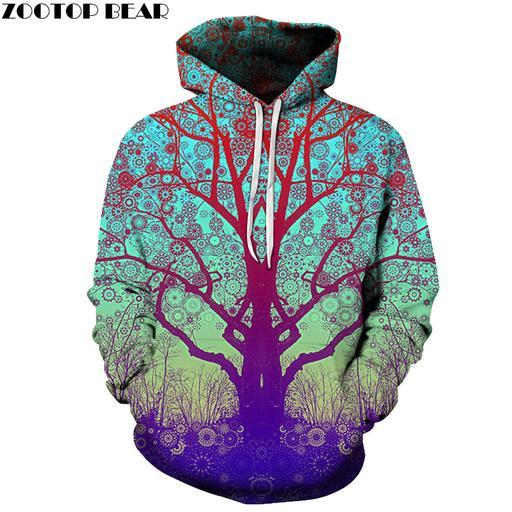 Yogi Tree 3d Sweatshirt Hoodie Pullover
