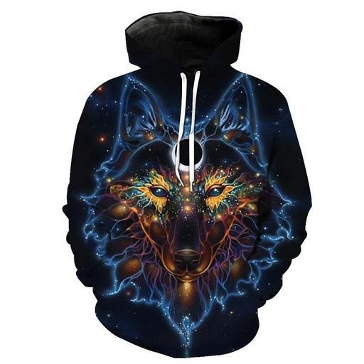 Yogi Wolf 3d Sweatshirt Hoodie Pullover