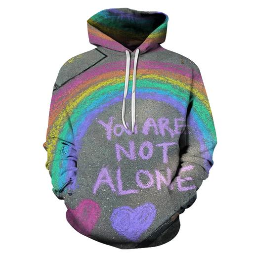You Are Not Alone 3d - Sweatshirt- Hoodie- Pullover